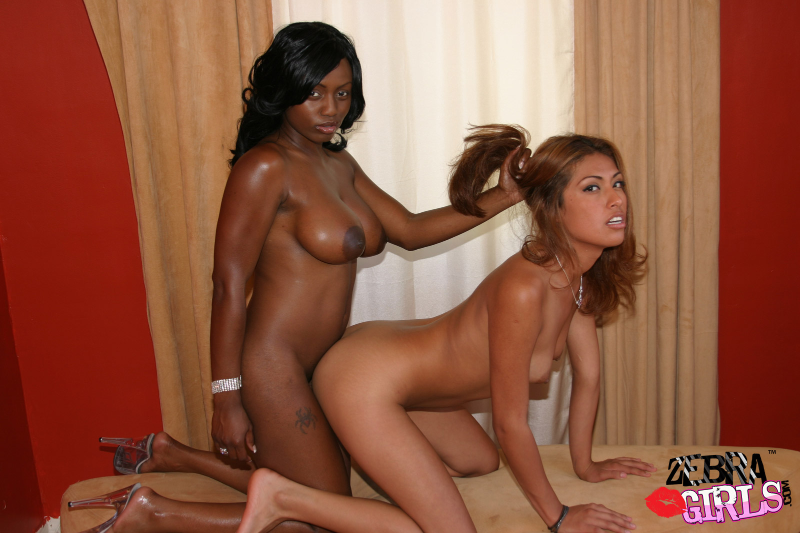 Two girls dominate xxx ebony gives blowjob 3
